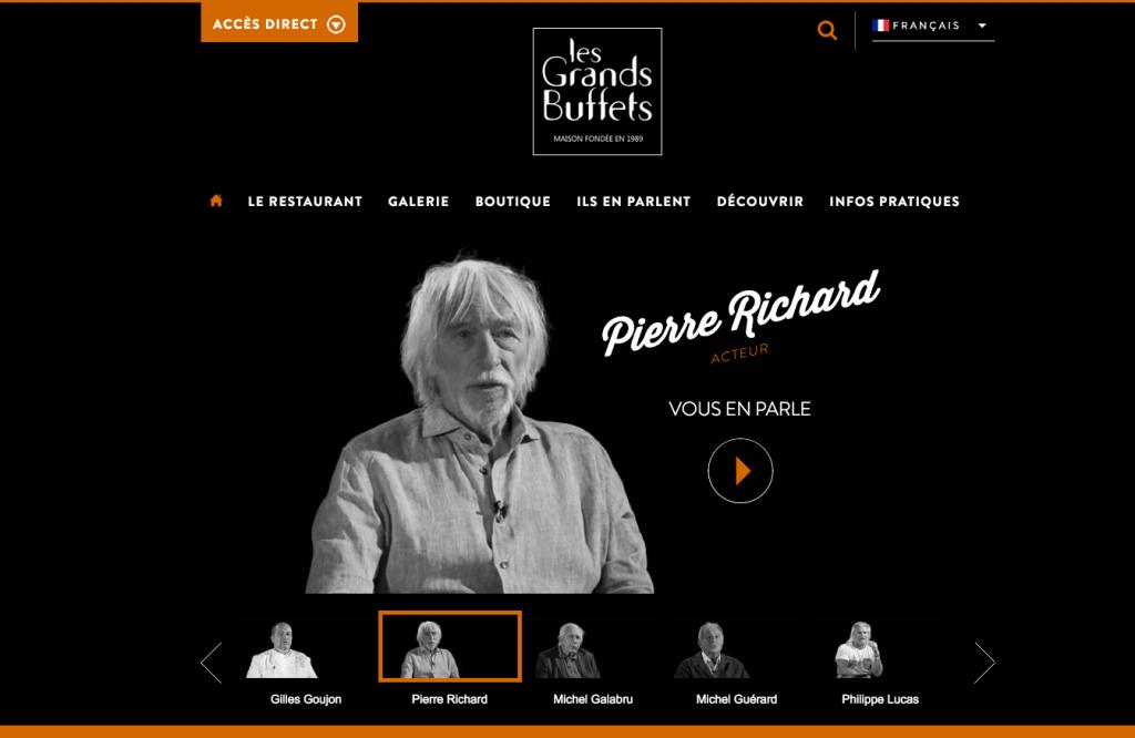 Nouveau site web pour Les Grands Buffets de Narbonne